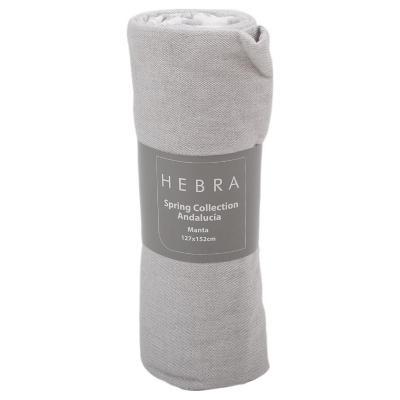 Manta spring Andalucía 127x152 cm gris
