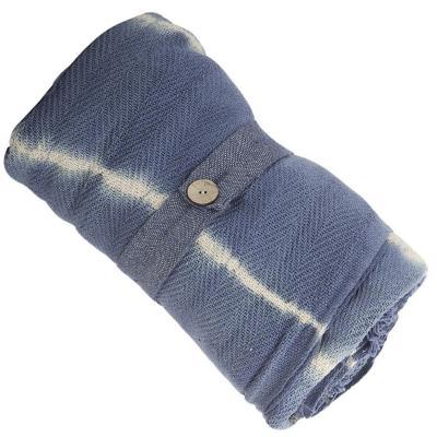 Manta shibori 125x150 cm azul