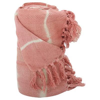 Manta shibori 125x150 cm coral
