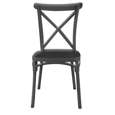 Silla comedor rhyd negro 91x43x43 cm