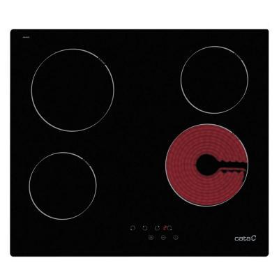 Encimera vitrocerámica 4 zonas de cocción