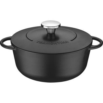 Cacerola 24 cm 4 l hierro negra
