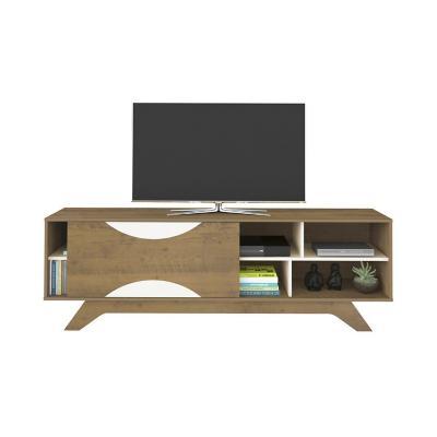 "Mesa rack tv 55"" coral blanco 58x180x41,5 cm"