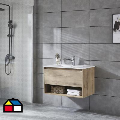 Mueble vanitorio Queen 81x46,5x50 cm Caramel con lavamanos