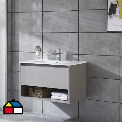 Mueble vanitorio Queen 81x46,5x50 cm Cool grey con lavamanos