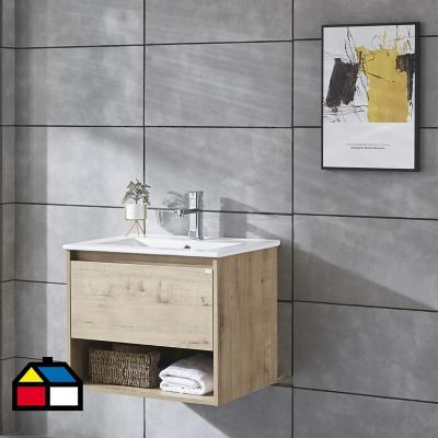 Mueble vanitorio Queen 71x46,5x50 cm caramel con lavamanos