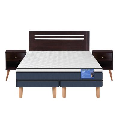 Cama europea excellence plus 2 plazas + muebles