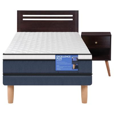 Cama europea excellence plus 1.5 plazas + muebles