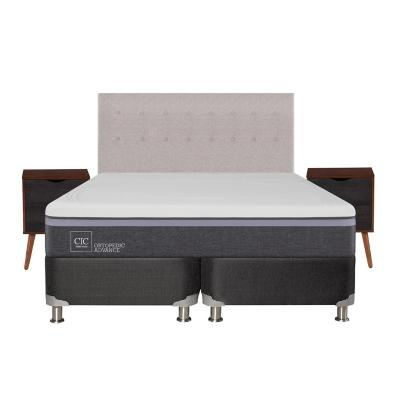 Box spring ortopedic advance b5 black king + muebles