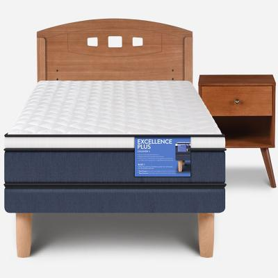 Cama europea excellence plus 1.5 plaza + muebles