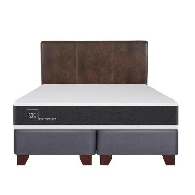 Box spring new ortopedic king + respaldo