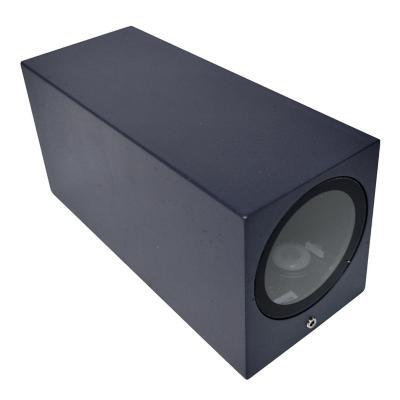 Aplique bidireccional cubo gu10 gris oscuro