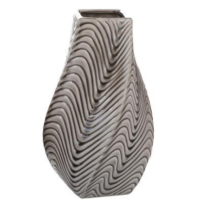 Florero de cerámica 29 cm gris