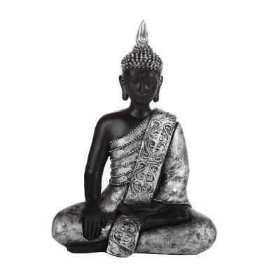 Figura decorativa buda resina 29 cm negro