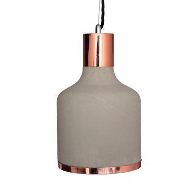 Lámpara colgante concreto duo cobre gris