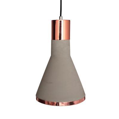 Lámpara colgante concreto two cobre gris