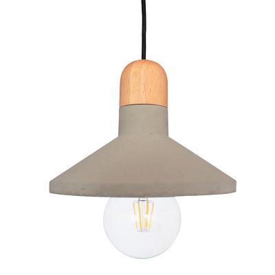 Lámpara colgante concreto madera pair gris