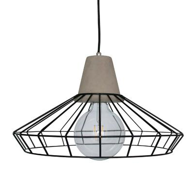 Lámpara colgante concreto acero duet gris