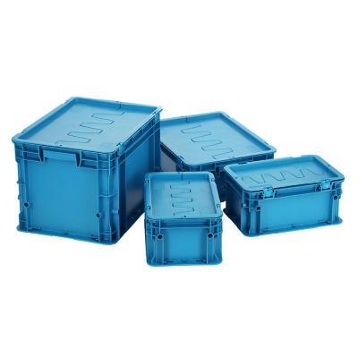 Set 4 cajas modulares 47 lts 30x40x60 cm azul