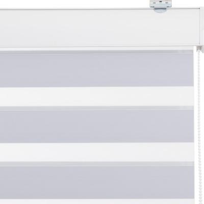 Cortina Duo Black Out Enrollable Con Instalación Blanco A La Medida Ancho Entre 106 a 120 Cm Alto 146 a 160 CM