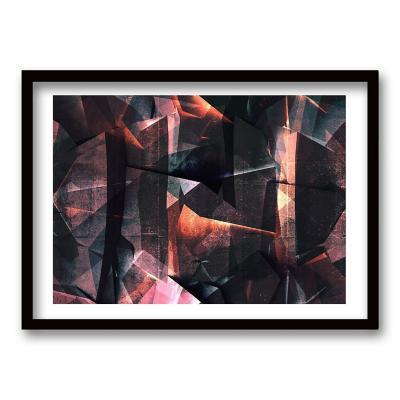 Cuadro ilustración geo abstracta 90x60 cm