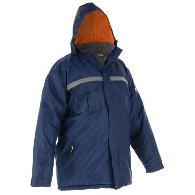 Parka térmica con gorro Alaska azul talla XL