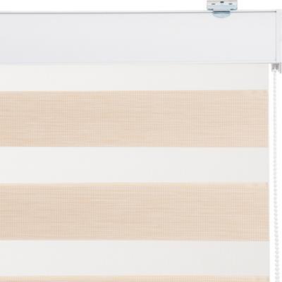Cortina Duo Screen Enrollable Con Instalación Beige A La Medida Ancho Entre 121 a 135 Cm Alto 60 a 100 CM