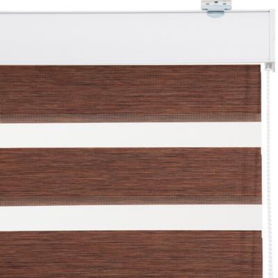 Cortina Duo Screen Enrollable Con Instalación Café A La Medida Ancho Entre 106 a 120 Cm Alto 206 a 220 CM