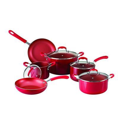 Bateria de cocina aluminio rojo