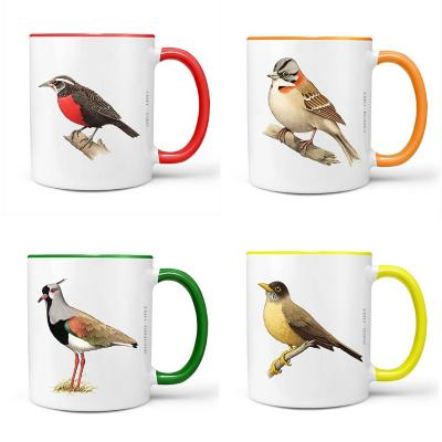 Set 4 tazones pájaros de chile diseño 1 320 ml