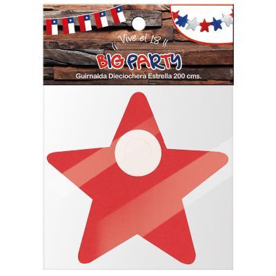 Guirnalda estrella 200 cm tricolor