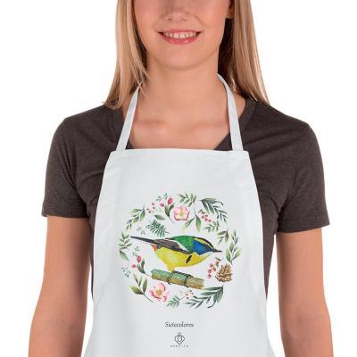 Delantal cocina aves de chile sietecolores