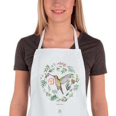 Delantal cocina aves de chile picaflor de arica