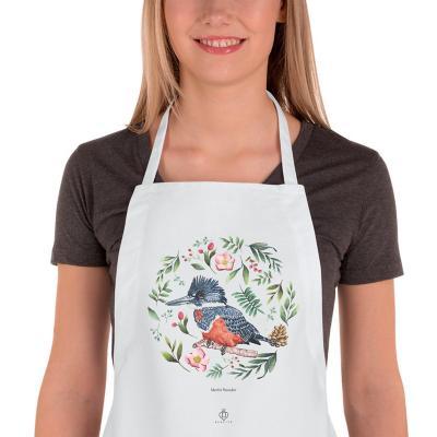 Delantal cocina aves de chile martin pescador