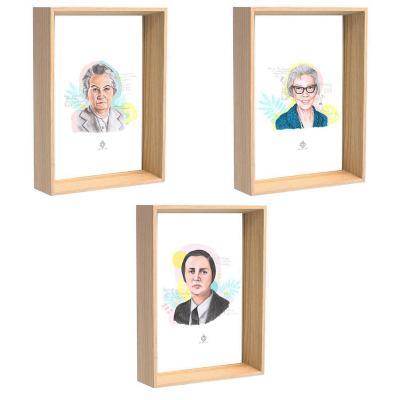 Cuadros 3 postales mujeres de chile 1 10x15 cm