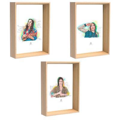 Cuadros 3 postales mujeres de chile 10x15 cm