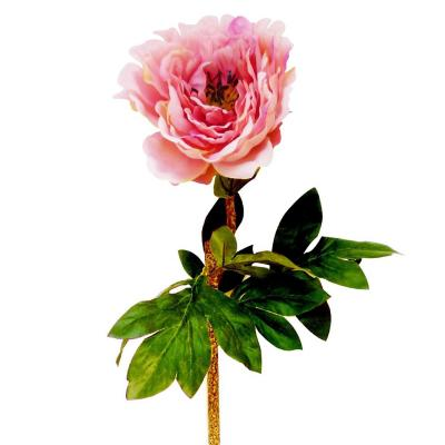 Flor artificial peonia rosada 69 cm