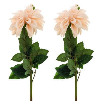 Pack 2 flores artificial dalia 59 cm naranjo