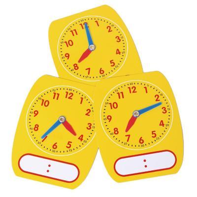 Juego didáctico set 5 relojes plástico