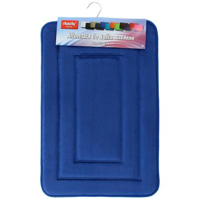 Piso para baño 12mm  rectangular 40x60 azul