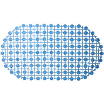 Piso para baño goma malla azul