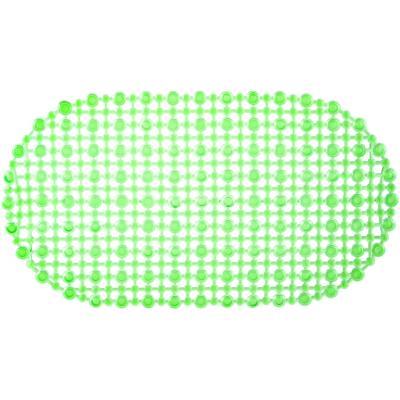 Piso para baño goma malla verde