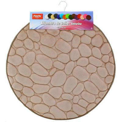Piso para baño piedra 12mm  redondo beige