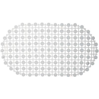 Piso para baño goma malla transparente