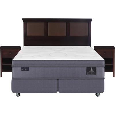 Box spring super premium king + muebles
