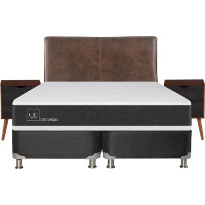 Box spring new ortopedic b5 black king + muebles