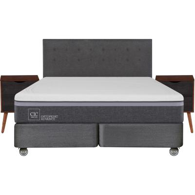 Box spring ortopedic advance king + muebles