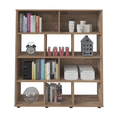 Librero estante booker café 91x25x109 cm