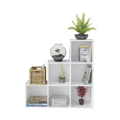 Librero estante greta blanco 102,5x25x102,5 cm