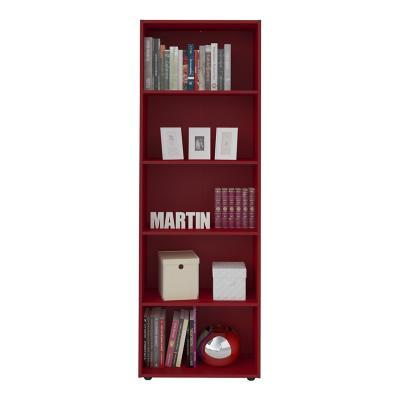 Librero estante molty rojo 60x30x180 cm